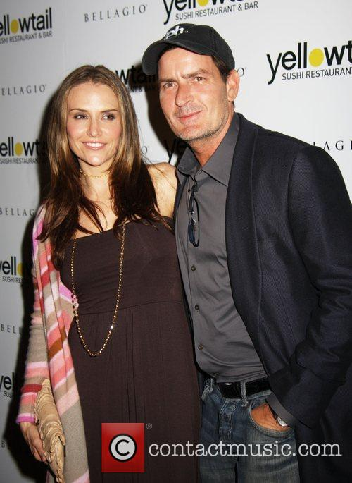 Brooke Mueller Sheen and Charlie Sheen Grand opening...