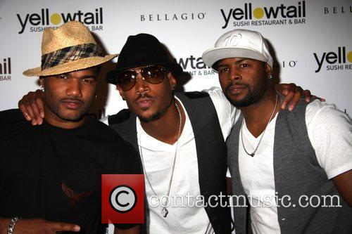 Marlon Wayans and guests Grand opening of Yellowtail...