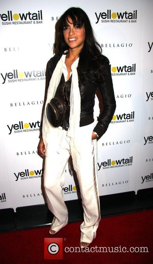 Michelle Rodriguez Grand opening of Yellowtail Sushi Restaurant...