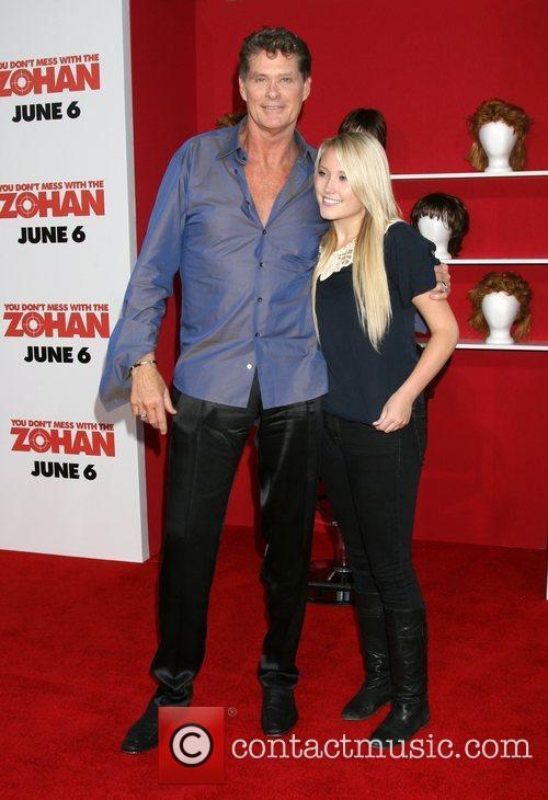 David Hasselhoff and daughter Haylie Hasselhoff World premiere...