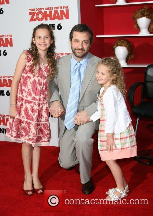 Judd Apatow with daughters Iris and Maude World...