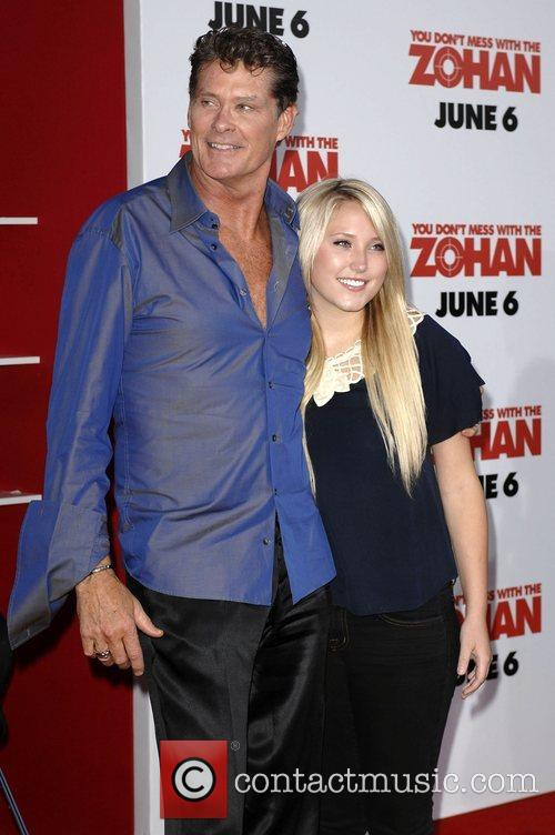 David Hasselhoff and daughter Hayley Amber World premiere...