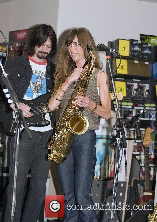 Abi Harding of The Zutons promoting their new...