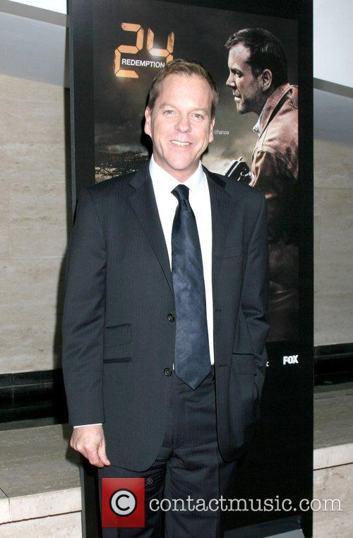 Kiefer Sutherland arriving at a photo exhibit featuring...