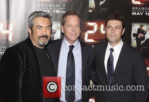 Jon Cassar, Kiefer Sutherland and Carlos Bernard Screening...