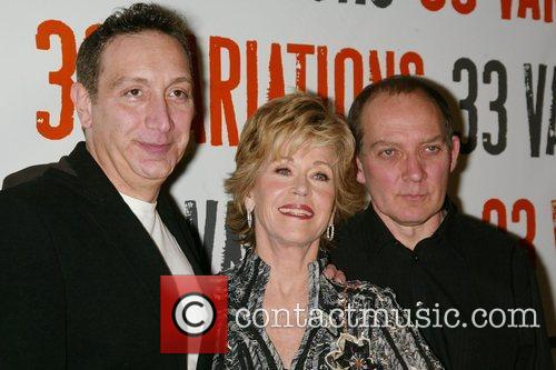 Moises Kaufman, Jane Fonda, Zach Grenier Photocall for...