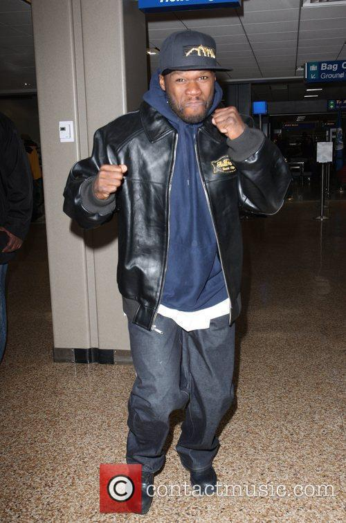 50 Cent arriving at Salt Lake City airport...