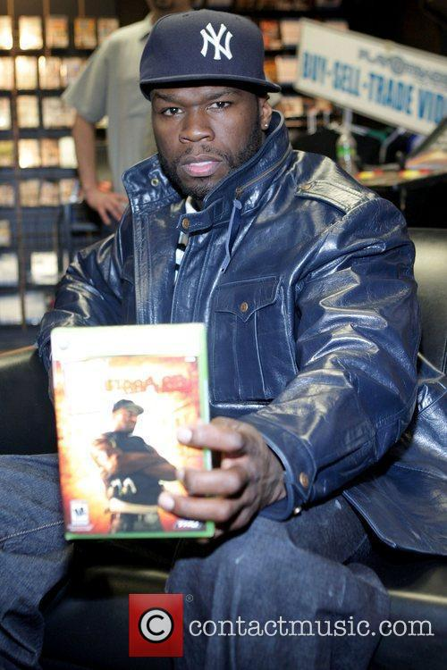Promotes his new video game '50 Cent: Blood...