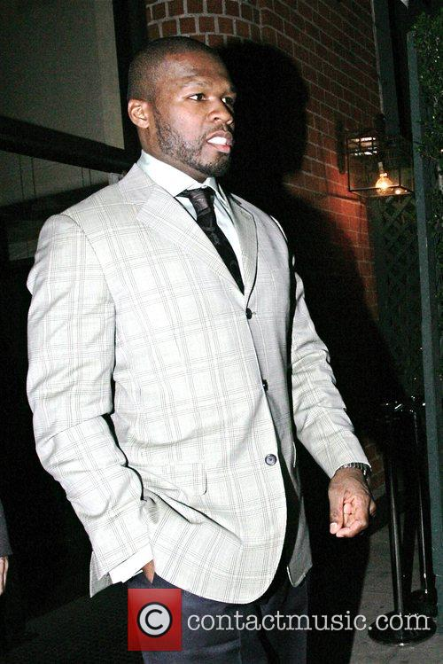50 Cent, aka Curtis Jackson, leaving Mr Chow...