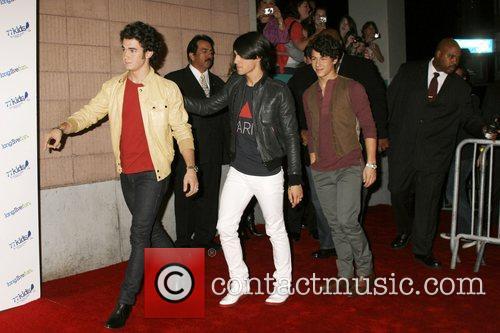 Kevin Jonas, Joe Jonas and Nick Jonas of...