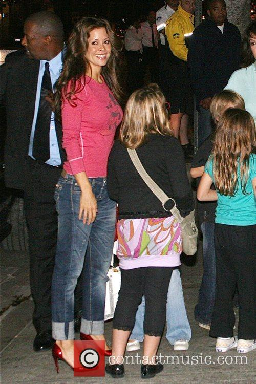 Brooke Burke outside the The Roxy for the...
