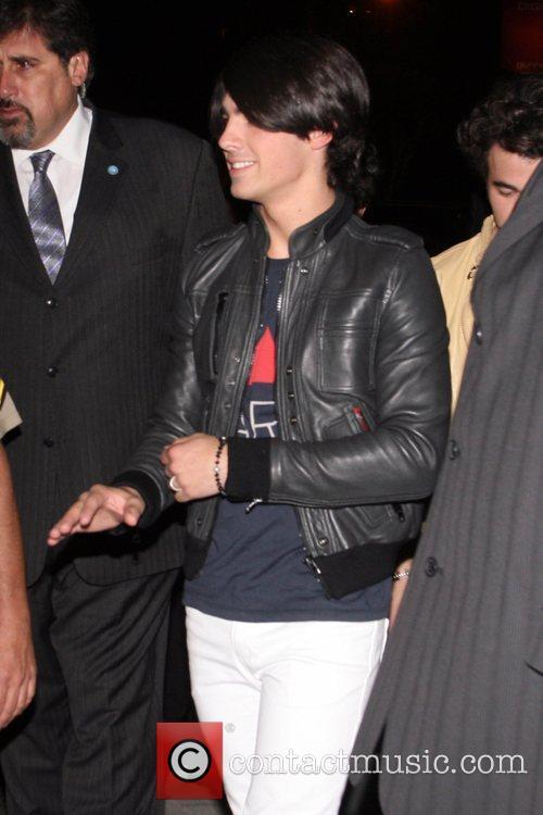 Joe Jonas of the Jonas Brothers outside the...