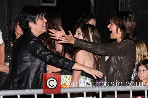 Kris Jenner and friend outside the The Roxy...
