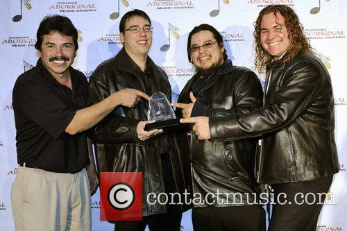 Texas Meltdown accept an award for Best Blues...