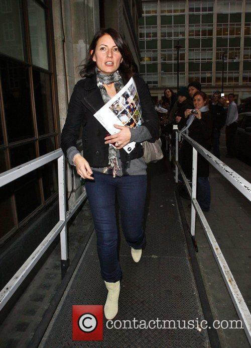 Davina McCall leaving the BBC Radio One studios...