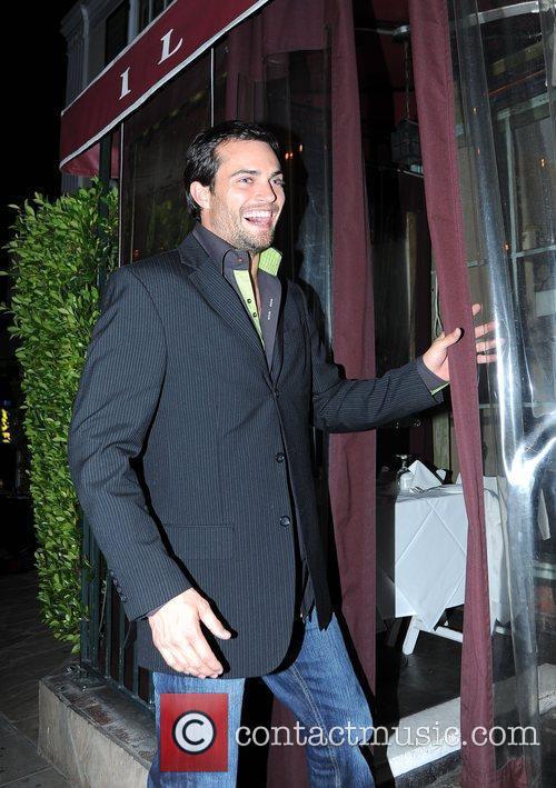 Scott Elrod arriving at Il Sole restaurant Los...