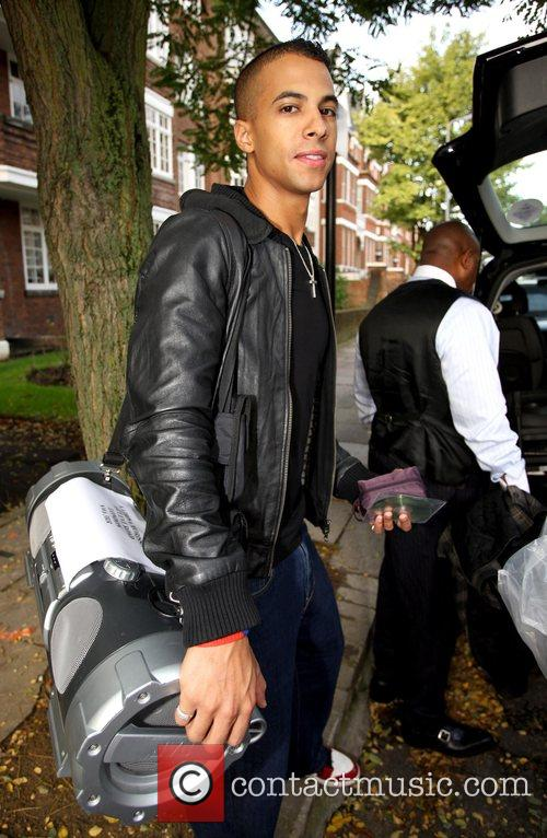 Marvin from X Factor finalist band JLS leaving...
