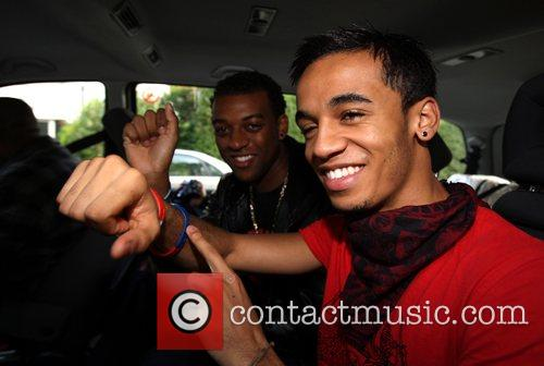 Ortise and Aston from X Factor finalist band...