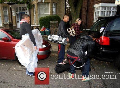 X Factor finalist band JLS leaving the X...