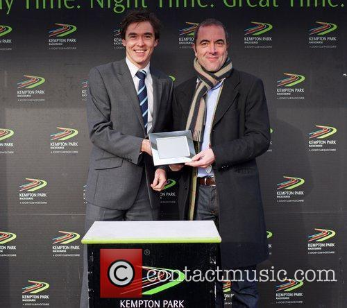James Nesbitt presented with a prize after his...