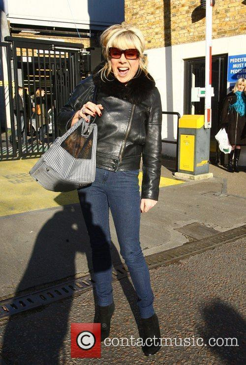 Letitia Dean leaving the London studios after appearing...