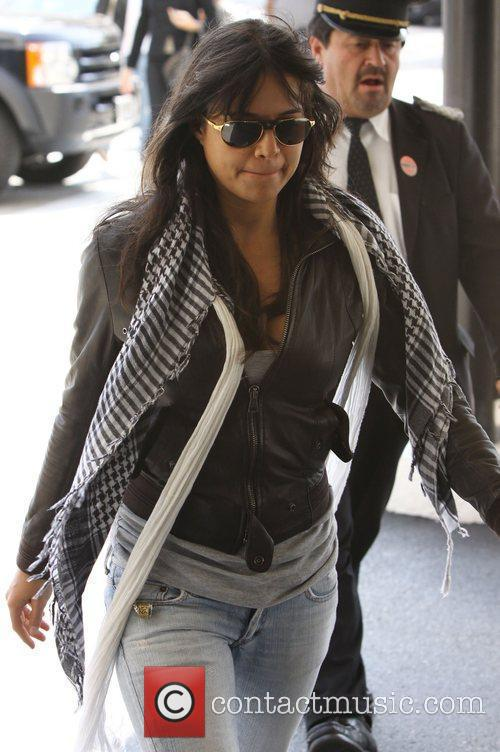 Michelle Rodriguez shopping at Saks Fifth Avenue Store...