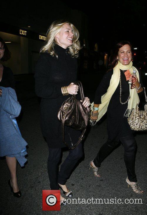 Rebecca Romijn leaving a taping of Project Runway...