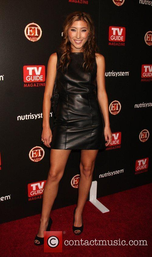 Dichen Lachman arriving at the TV Guide Magazine...