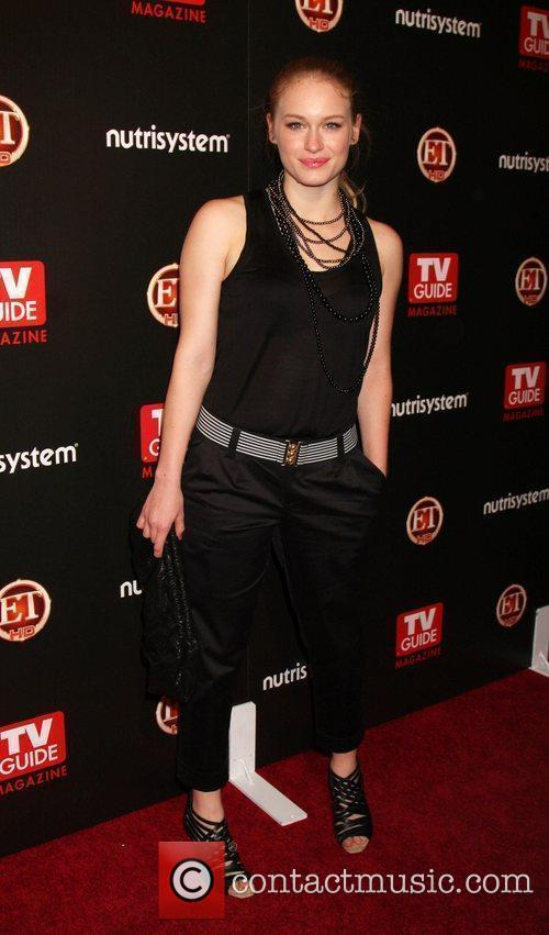 Leven Rambin arriving at the TV Guide Magazine...