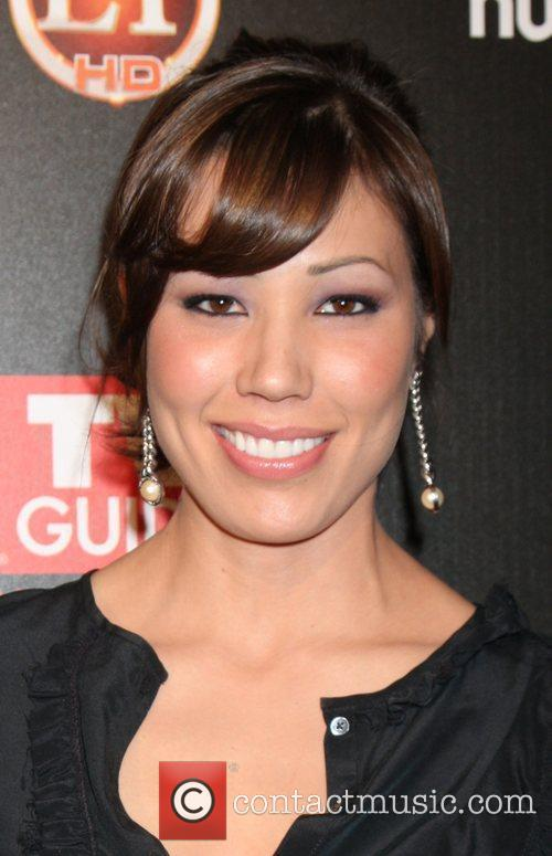 Michaela Conlin arriving at the TV Guide Magazine...