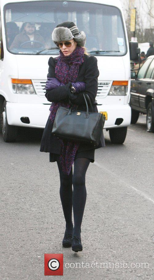 Trinny Woodall leaving her house this morning London,...
