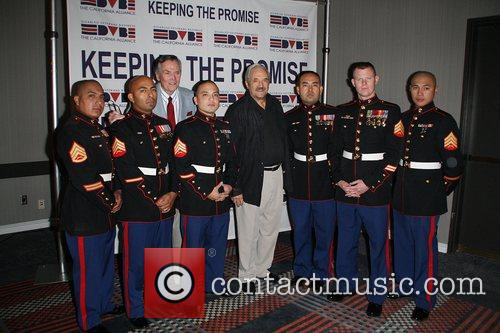 Hal Linden and Pete Marshal with US Marines...