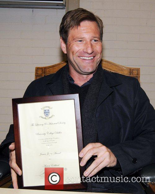 Actor Aaron Eckhart receives the James Joyce Award...