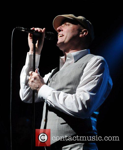 Glenn Gregory of Heaven 17 performing live during...