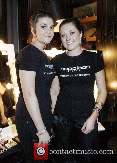 Makeup artists from Napoleon Perdis Absolut Vodka and...