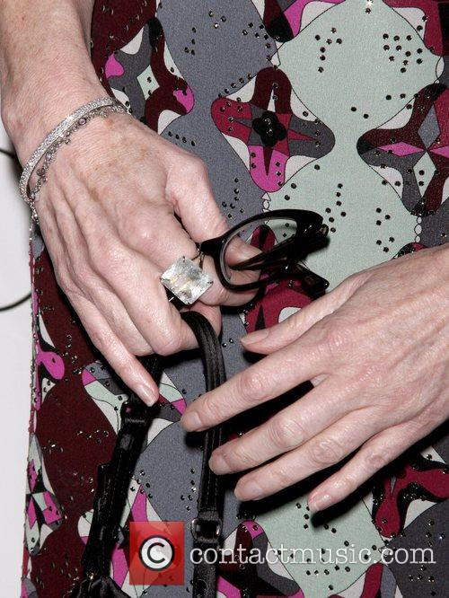Dana Delany shows off her ring at the...