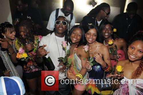 Antoine McColister aka Ace Hood and Guests at...