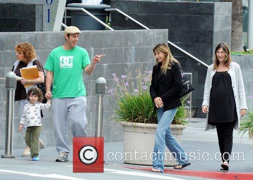 Adam Sandler, his daughter Sadie Sandler and wife...
