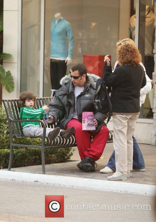 And his family shopping at The Grove