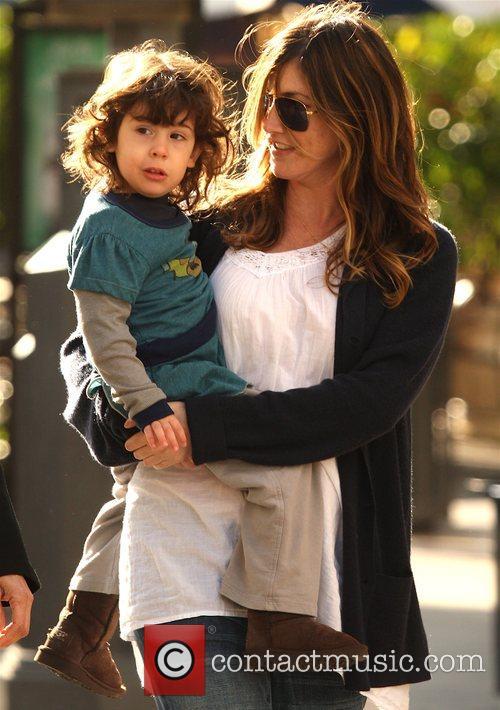 Jackie Sandler and daughter Sadie Sandler shopping at...