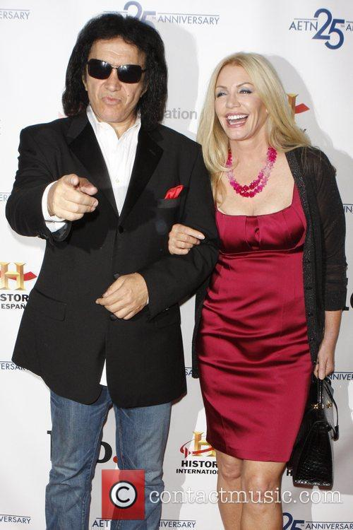 Gene Simmons, Shannon Tweed 25th Anniversary of A&E...