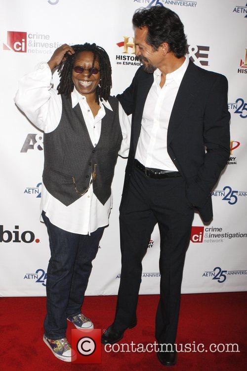 Whoopi Goldberg, Bejamin Bratt 25th Anniversary of A&E...