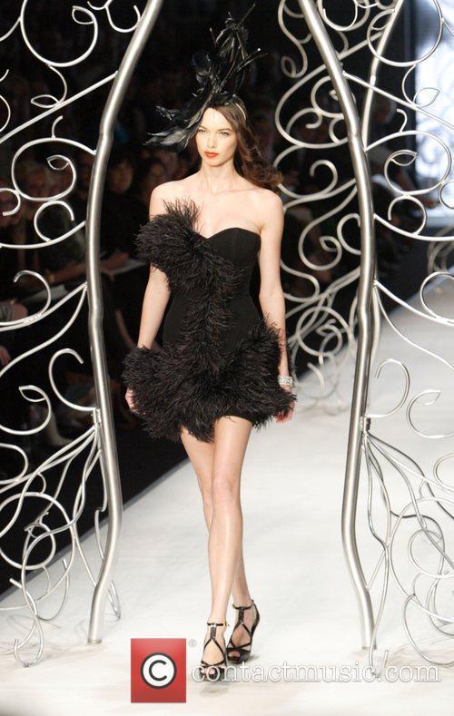 Model Day Two of Australian Fashion Week -...