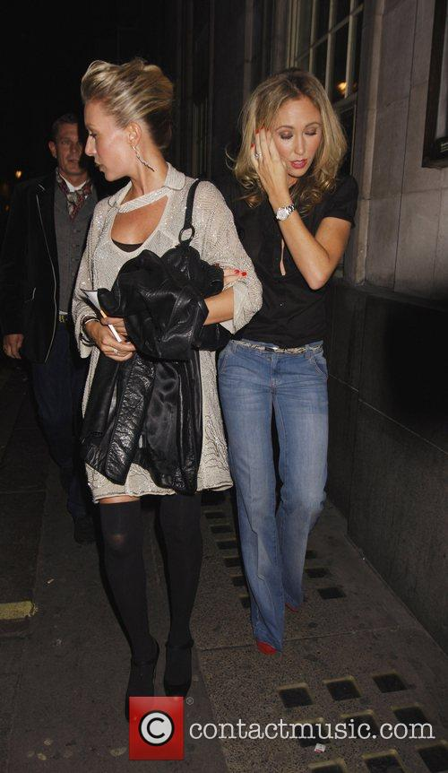 Jenny Frost leaves the Agent Provocateur party, held...