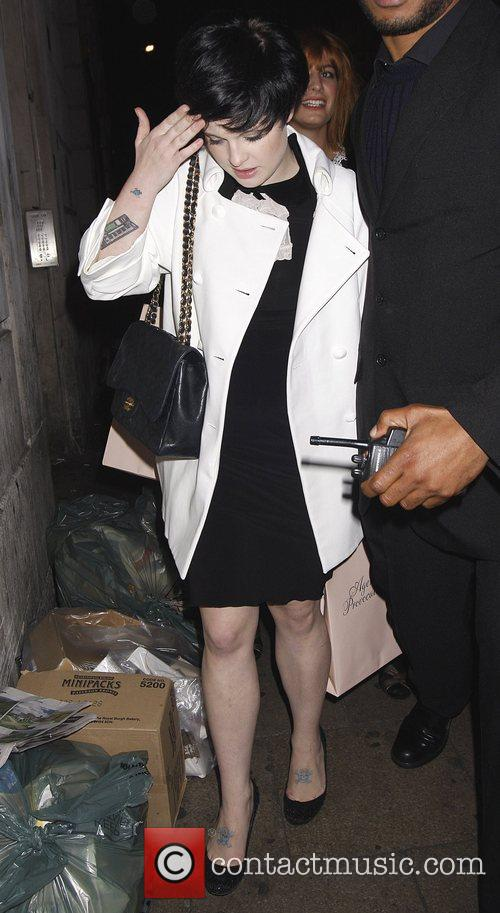Kelly Osbourne leaves the Agent Provocateur party, held...