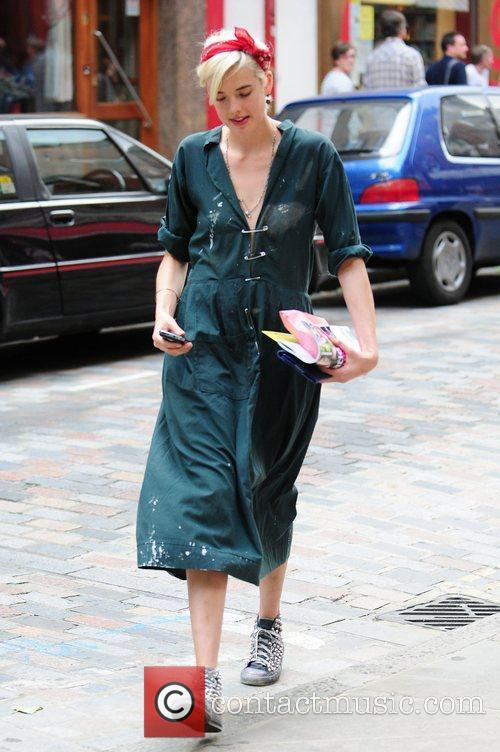 Agyness Deyn out and about in Soho wearing...