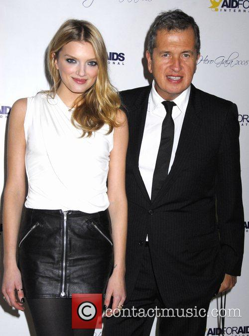 Lily Donaldson and Mario Testino  Aid for...