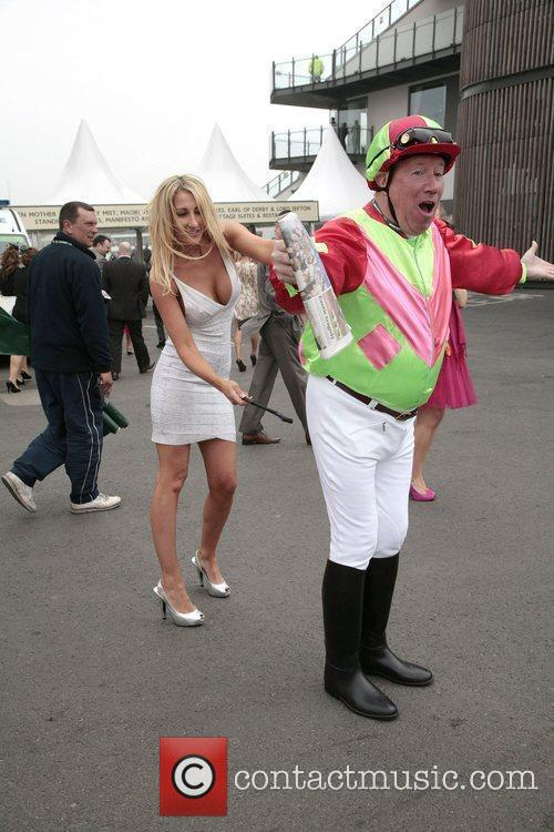 Atmosphere Ladies Day at the Grand National held...