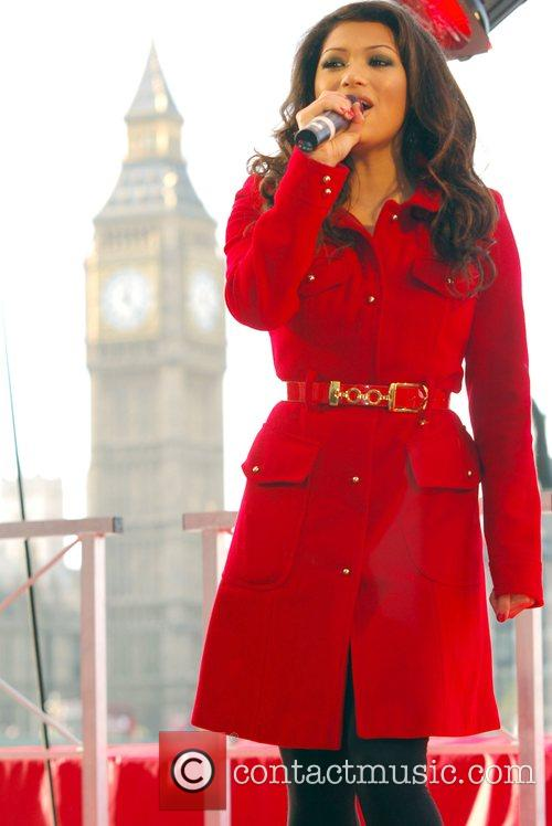 Vanessa White of The Saturdays Low-cost airline AirAsia...