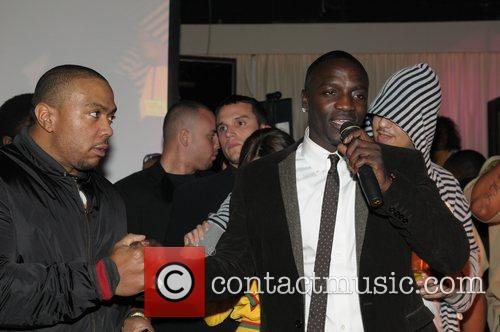 Timberland and Akon Release party for Akon's 3rd...